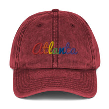 Load image into Gallery viewer, Rainbow Atlanta Vintage Cotton Twill Cap-Headwear-ATLPride.com