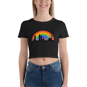 Rainbow Atlanta Skyline Crop Top-Shirts-ATLPride.com