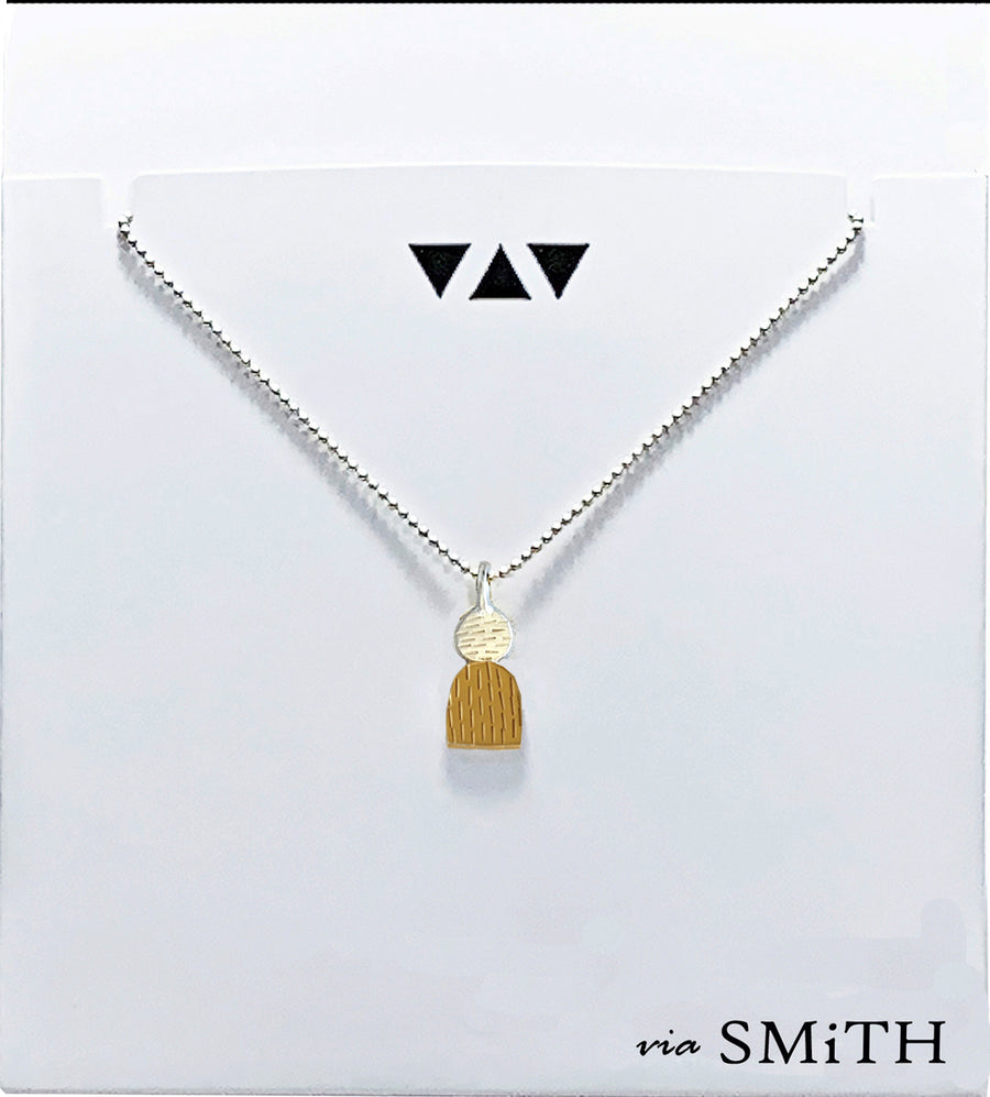 Dot and Arch Pendant Necklace  (NK57)