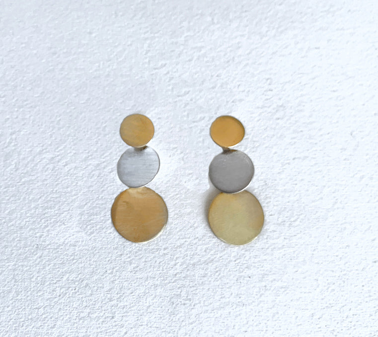 Triple Dot Stud Earrings (ER28gsg)