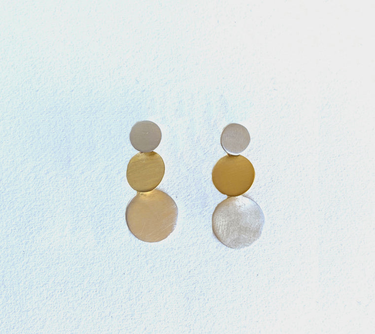 Triple Dot Stud Earrings (ER28sgs)