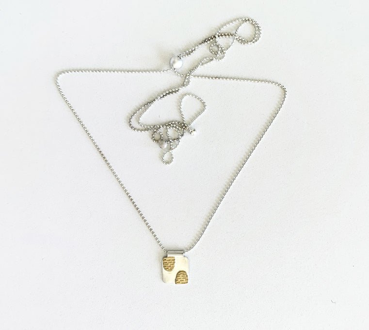 Everest Pendant Necklace, Silver (NK35)