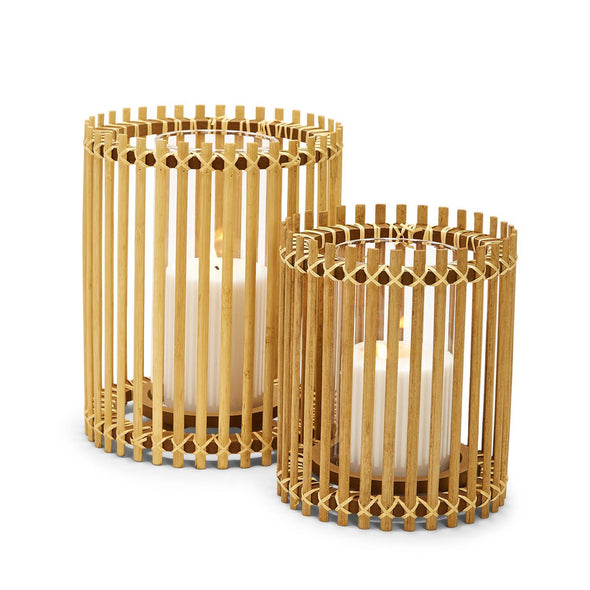 Natural Bamboo Candle Holder and Bamboo Vase