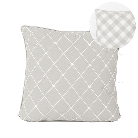 Gray Plaid PIllow, Cirss Cross Pillow Decor, Canvas Pillows Doublesided