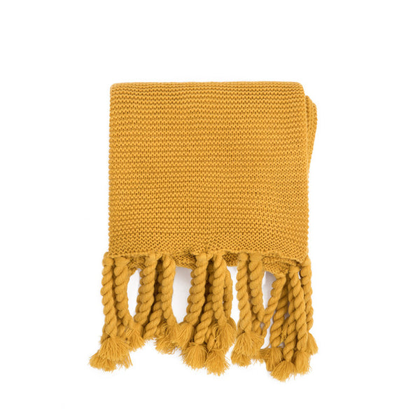 Gold Throw Blanket, USA Made, Mustard Yellow Throw, Mustard Yellow Blanket
