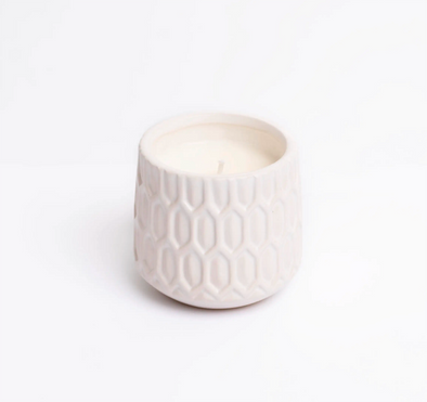 Boho Vase Candles, White Candle Vases, Natural Luxury Candles