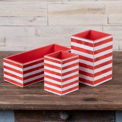 Red Striped Botanical Box
