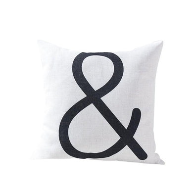 Ampersand Throw Pillow, Linen Cotton