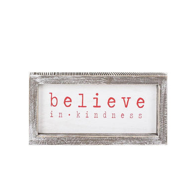 Christmas Believe Wooden Sign, Believe in Kindness Xmas Sign
