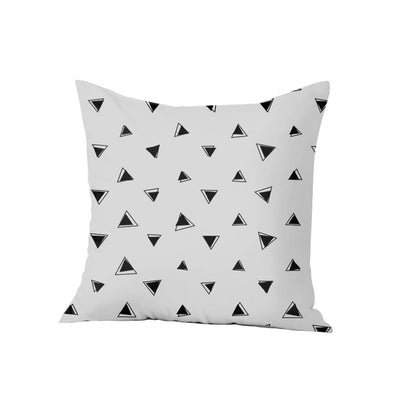Geometric Pillow Cases, BW Triange Decorative Pillow