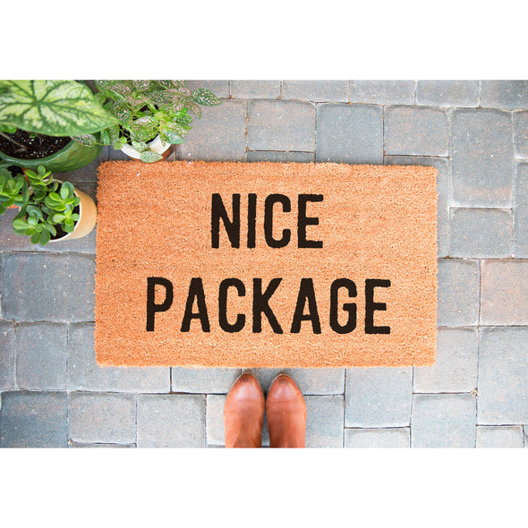 Funny welcome mats, nice package