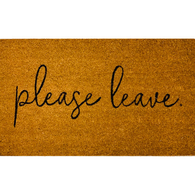 Please Leave Front Door Welcome Mat, funny doormat
