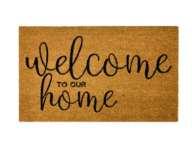 Welcome To Our Home Mat, Quote Welcome Mats, Quote Outdoor Mats