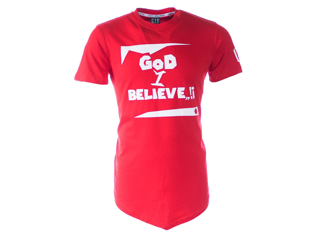 God I Believe T-shirt Red