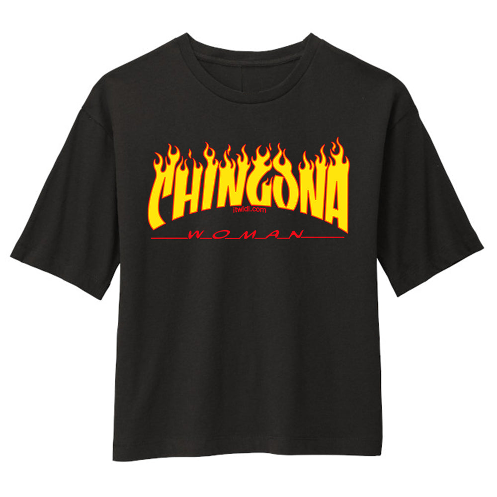 Chingona Woman Women's Boxy Tee