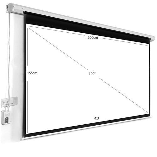 100inch Motorized Electric Screen - BeamerX.sg