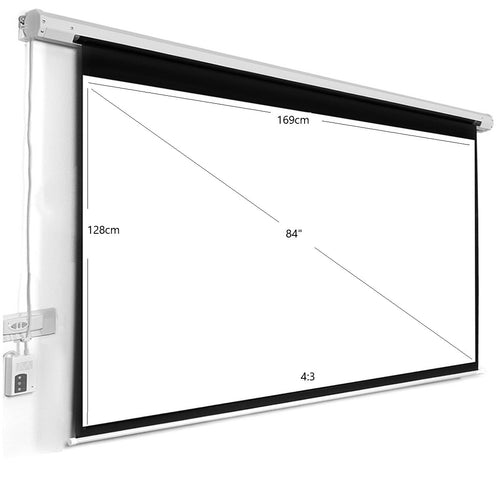 84inch Motorized Electric Screen - BeamerX.sg