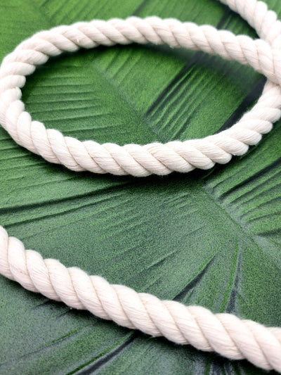 12mm Chunky Macrame Natural Cotton Rope | 3 ply Twisted Rope