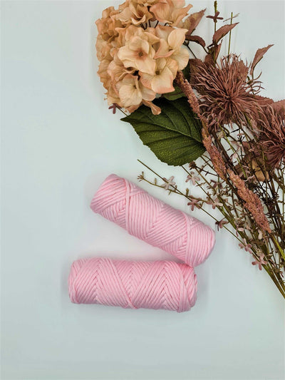 BLUSH PINK - 3MM  Single Strand Luxe Cotton String