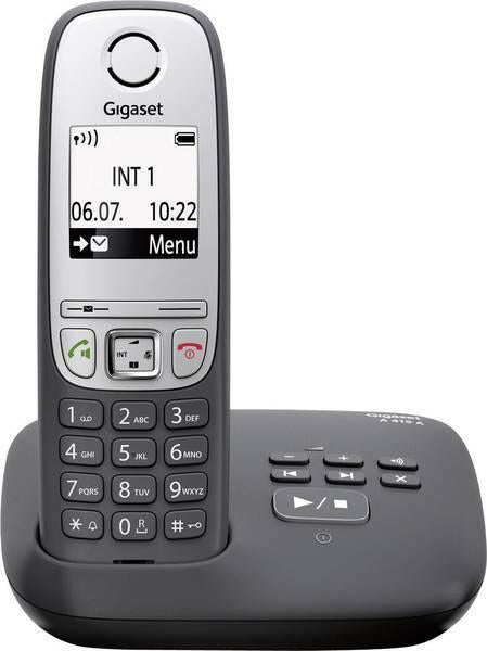 Gigaset A415A DECT GAP Cordless Analogue Answerphone Hands-Free Black (Renewed)