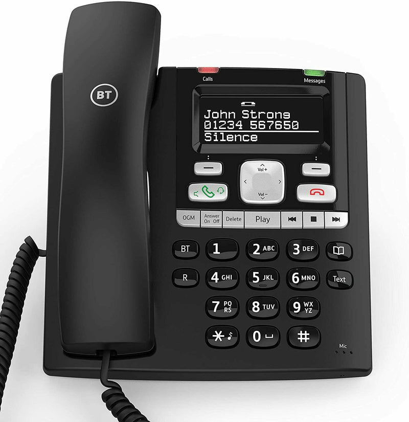 BT Paragon 650 Corded Telephone With Answermachine - 032116 (New)
