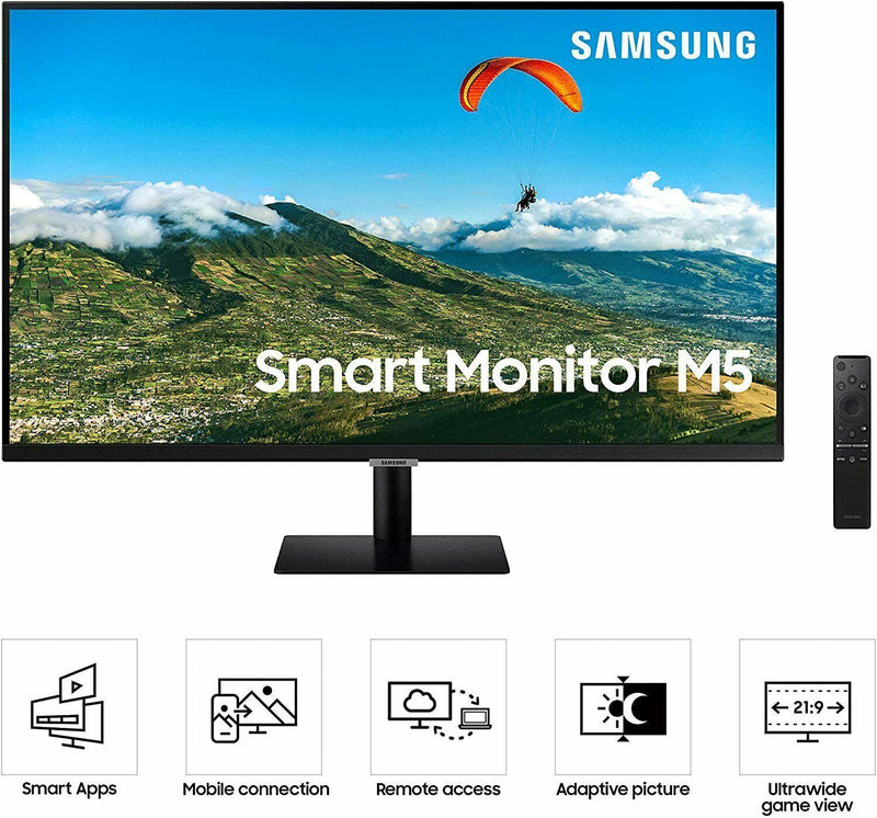 Samsung LS32AM500NUXEN 32'' Full HD Smart Monitor With Speakers And Remote (Renewed)