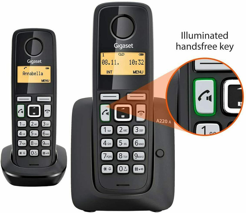 Gigaset A220A Twin Cordless Home Phone With Answer Machine (New)