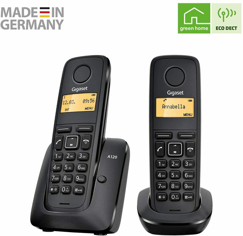 Gigaset A120 Duo Digital Cordless Phone (New)