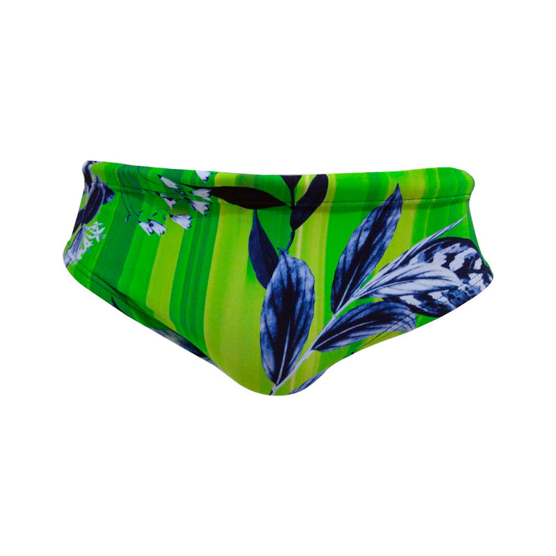 Pantaloneta clavadista Tropical green