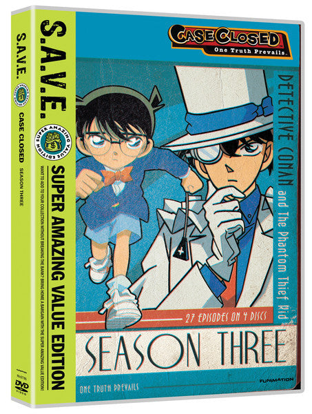 Case Closed Season 3 DVD Box Set S.A.V.E. Edition