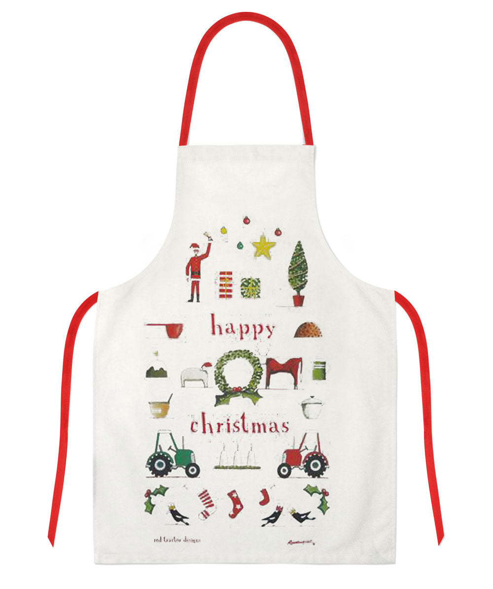 Red Tractor Designs - Happy Christmas Apron