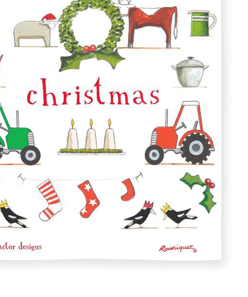Red Tractor Designs - Happy Christmas