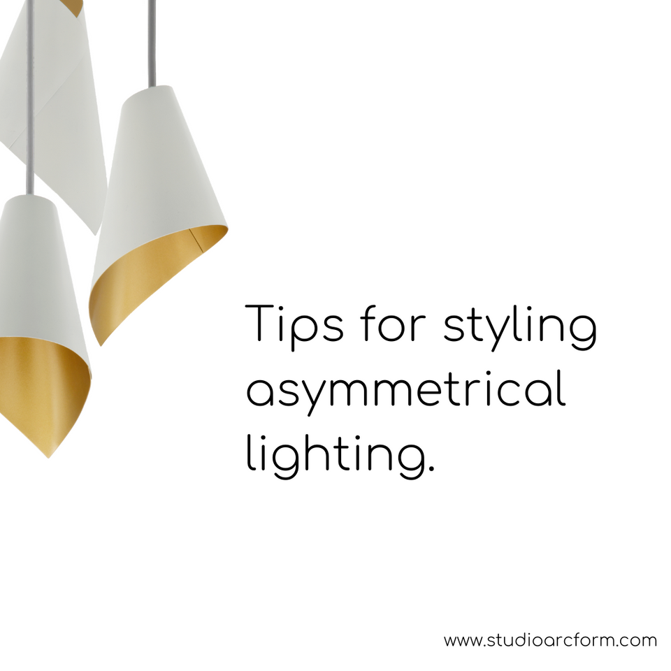 Styling asymmetrical pendant lights