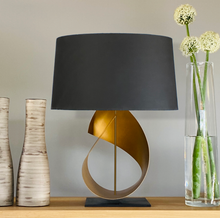 Load image into Gallery viewer, Sculptural Table Lamp in Gold
