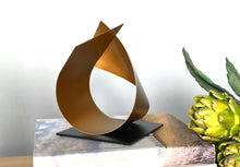Load image into Gallery viewer, Mini gold sculpture modern sculpture art