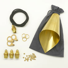 Load image into Gallery viewer, close up of beautiful brass fittings for pendant lights