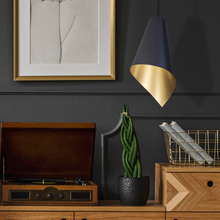 Load image into Gallery viewer, modern pendant lighting in black and gold