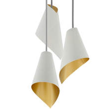 Load image into Gallery viewer, pendant light in white & gold modern pendant lighting close up
