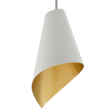 Load image into Gallery viewer, pendant light close up white and gold modern lighting