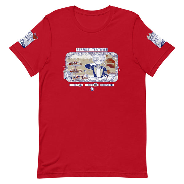 Perfect Tea Time Pre Sylvain Unisex TShirt (Red or Navy!)