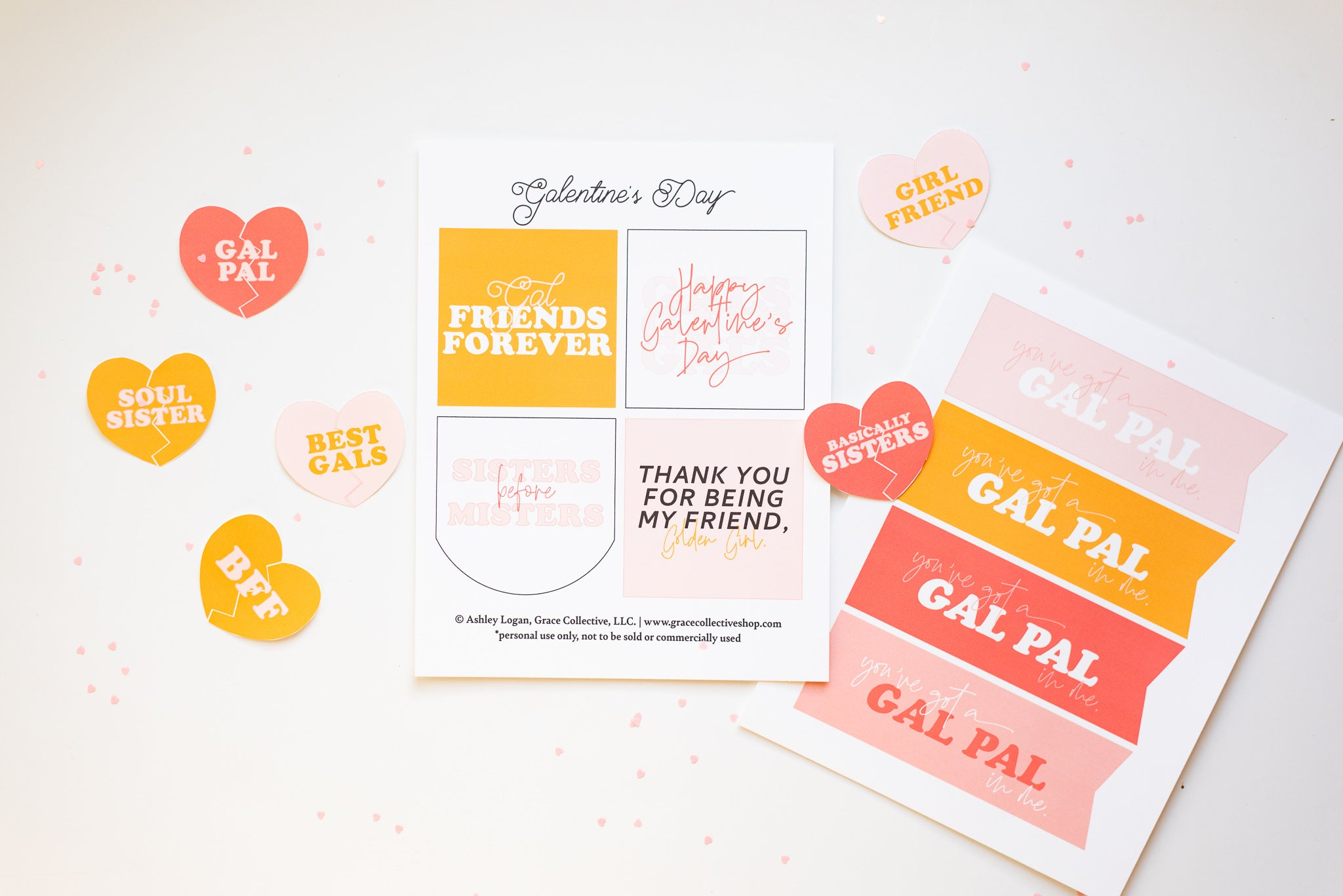Galentine's Cards | Printable Set