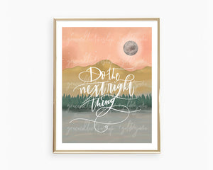 Do the Next Right Thing | Printable Art