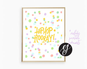 Hip Hop Hooray | Printable Party Set
