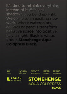 Stonehenge Black Watercolour Paper