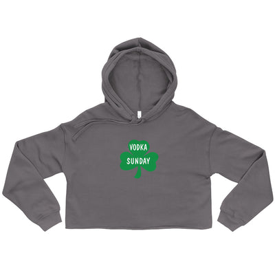St. Paddy's Day Crop Women's Hoodie - Vodka Sunay