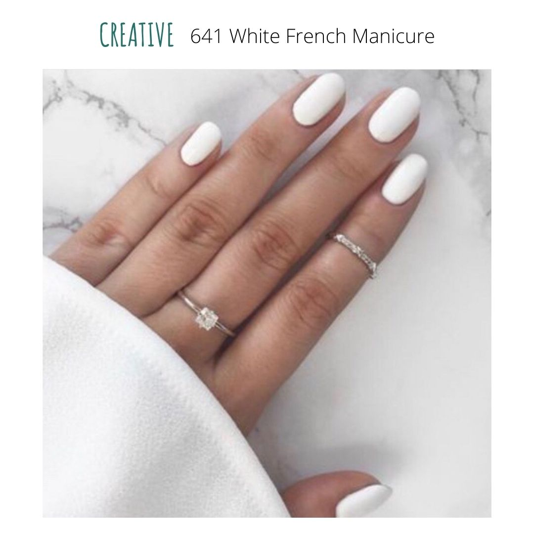 certified vegan nail polish bio-sourced 10 free creative 641 white french manicure