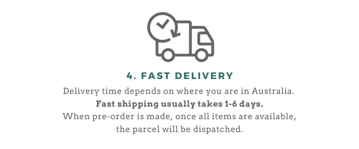 Order process step 4 delivery