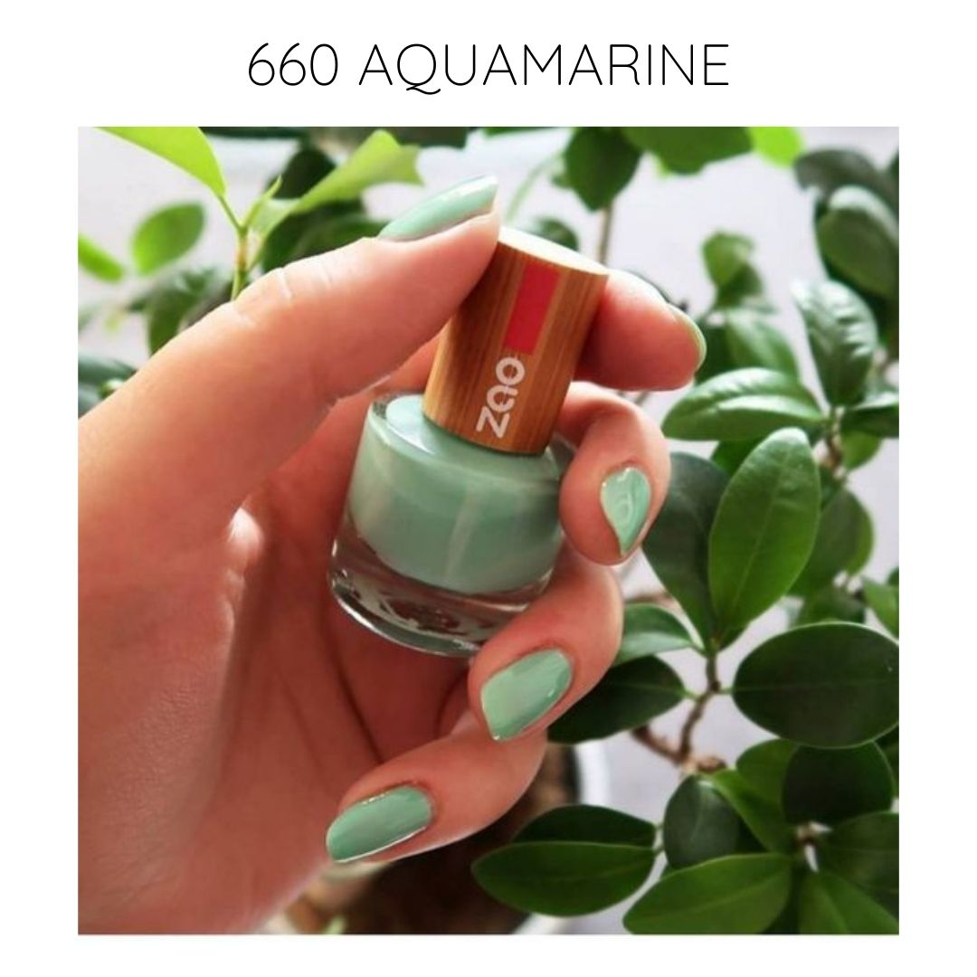 certified vegan nail polish bio-sourced 10 free creative 660 aquamarine
