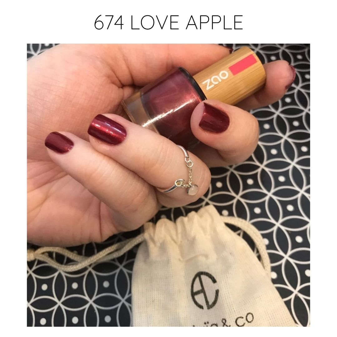 certified vegan nail polish bio-sourced 10 free glam 674 love apple