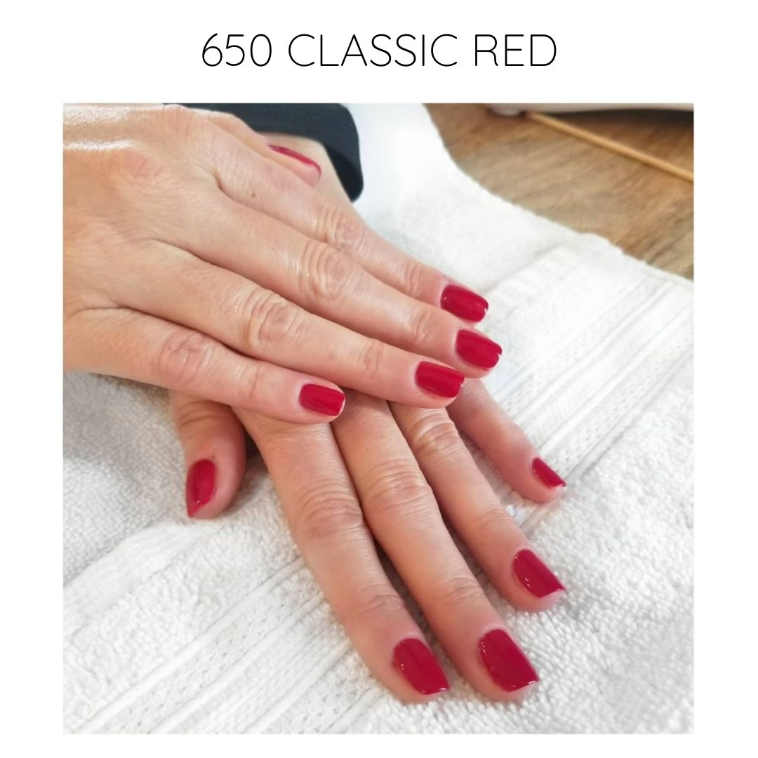 certified vegan nail polish bio-sourced 10 free glam 650 carmin red
